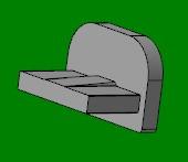 Заглушка для алюминиевого карниза (европрофиль)