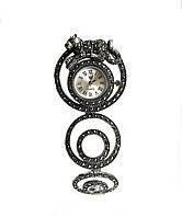 Часы из капельного серебра 925 Beauty Bar с тигром и марказитами, фото 1