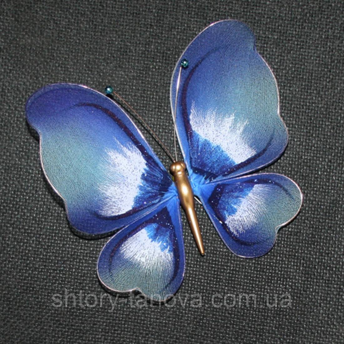 Украшение бабочка маленькая голубой хмм