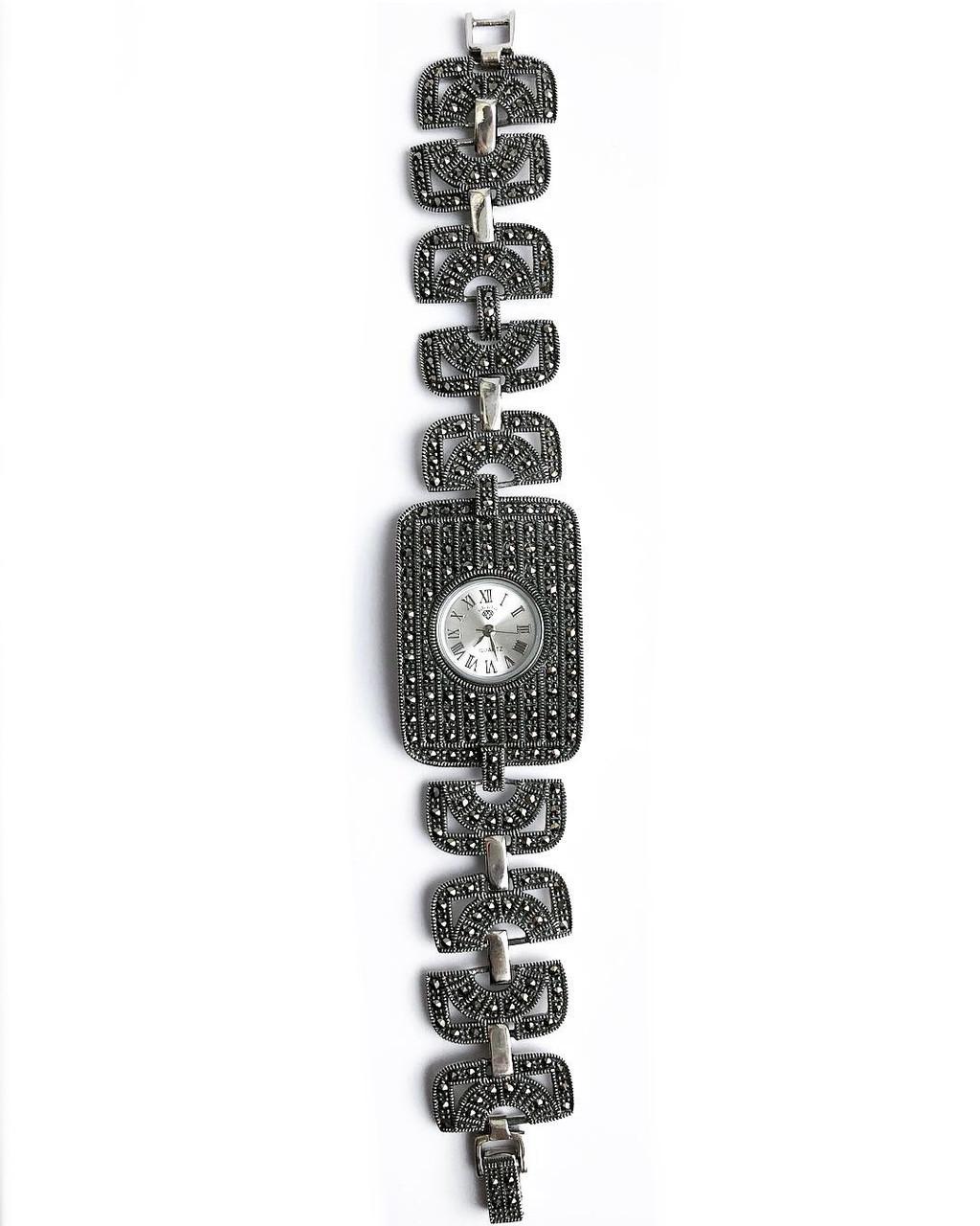 Часы из капельного серебра 925 My Jewels прямоугольные камни маркизы