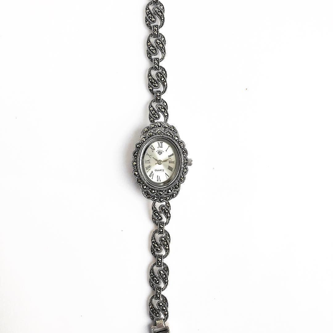 Часы из капельного серебра 925 классические 1