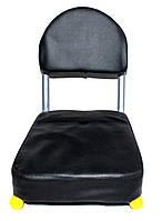 Седло на багажник со спинкой 27 см\новая поставка с Китая по вашим промьбам улучшили качество, фото 1