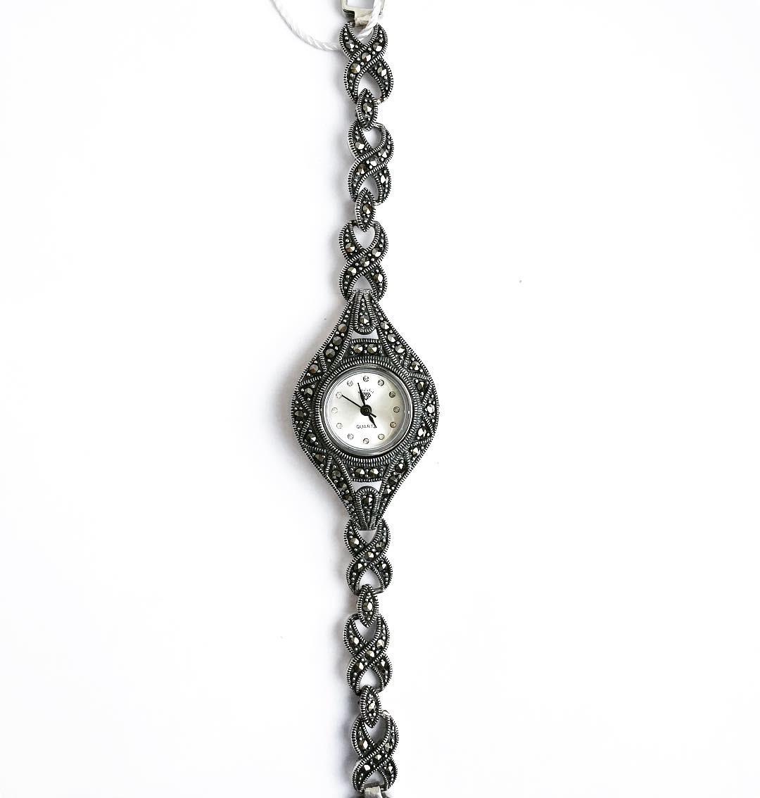 Часы из капельного серебра 925 классические 5