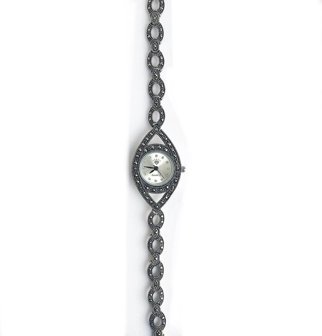 Часы из капельного серебра 925 классические 6