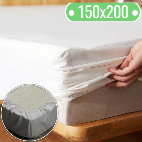 Наматрасник 150х200 см., непромокаемый с тканевым бортом
