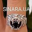Срібне кільце Тигр - Чоловіче кільце Тигр срібло, фото 6