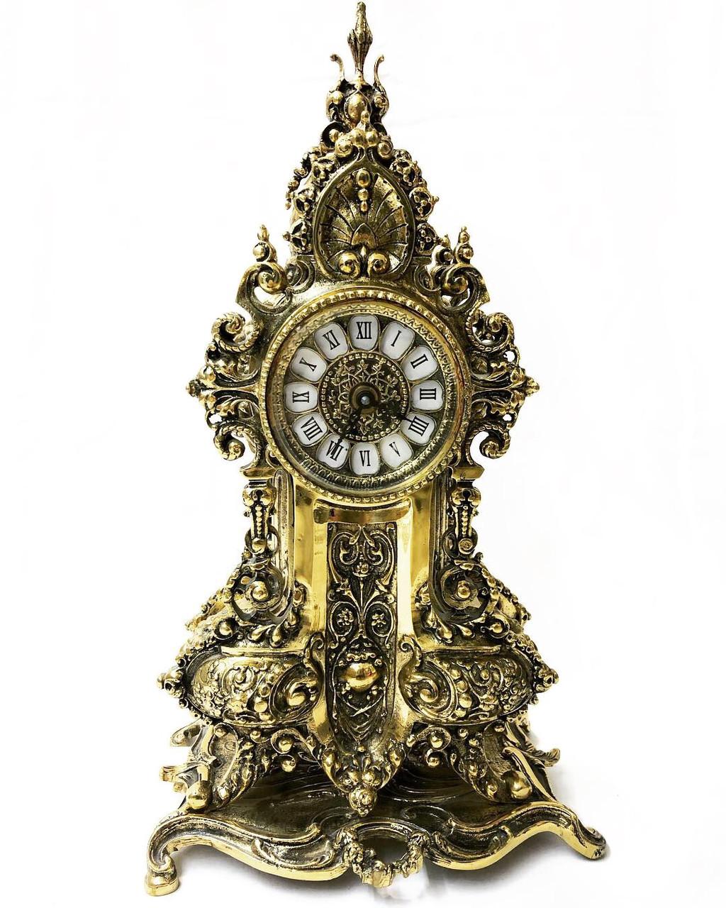 Настольные каминные часы из португальской бронзы Virtus 1945 высота  57 см