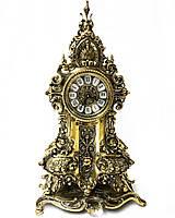 Настольные каминные часы из португальской бронзы Virtus 1945 высота  57 см, фото 1