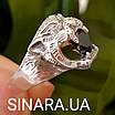 Срібне кільце Тигр - Чоловіче кільце Тигр срібло, фото 4
