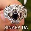 Срібне кільце Тигр - Чоловіче кільце Тигр срібло, фото 2