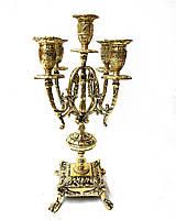 Подсвечник канделябр каминный Virtus 1945 из португальской бронзы