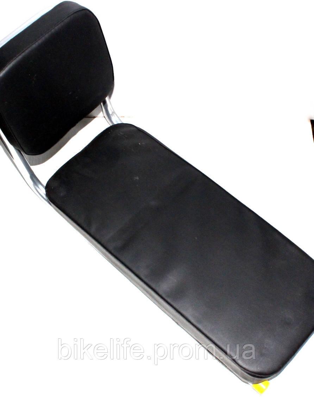 Седло на багажник со спинкой 42 см