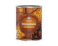 Лак акриловый ESKARO MOBLILAKK 40 мебельный полуглянцевый 0,9л