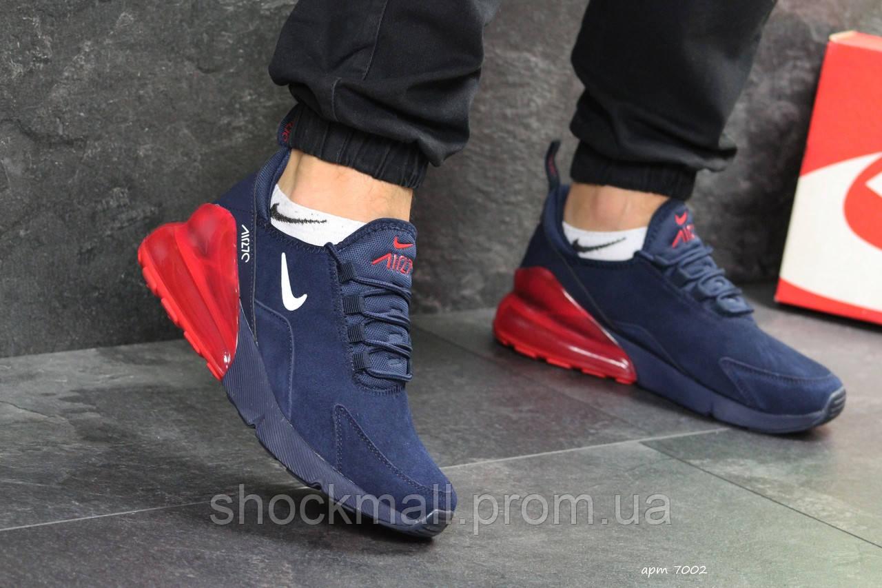 8d9afef1 Nike Air Max 270 кроссовки мужские синие с красным Вьетнам реплика -  Интернет магазин ShockMall в