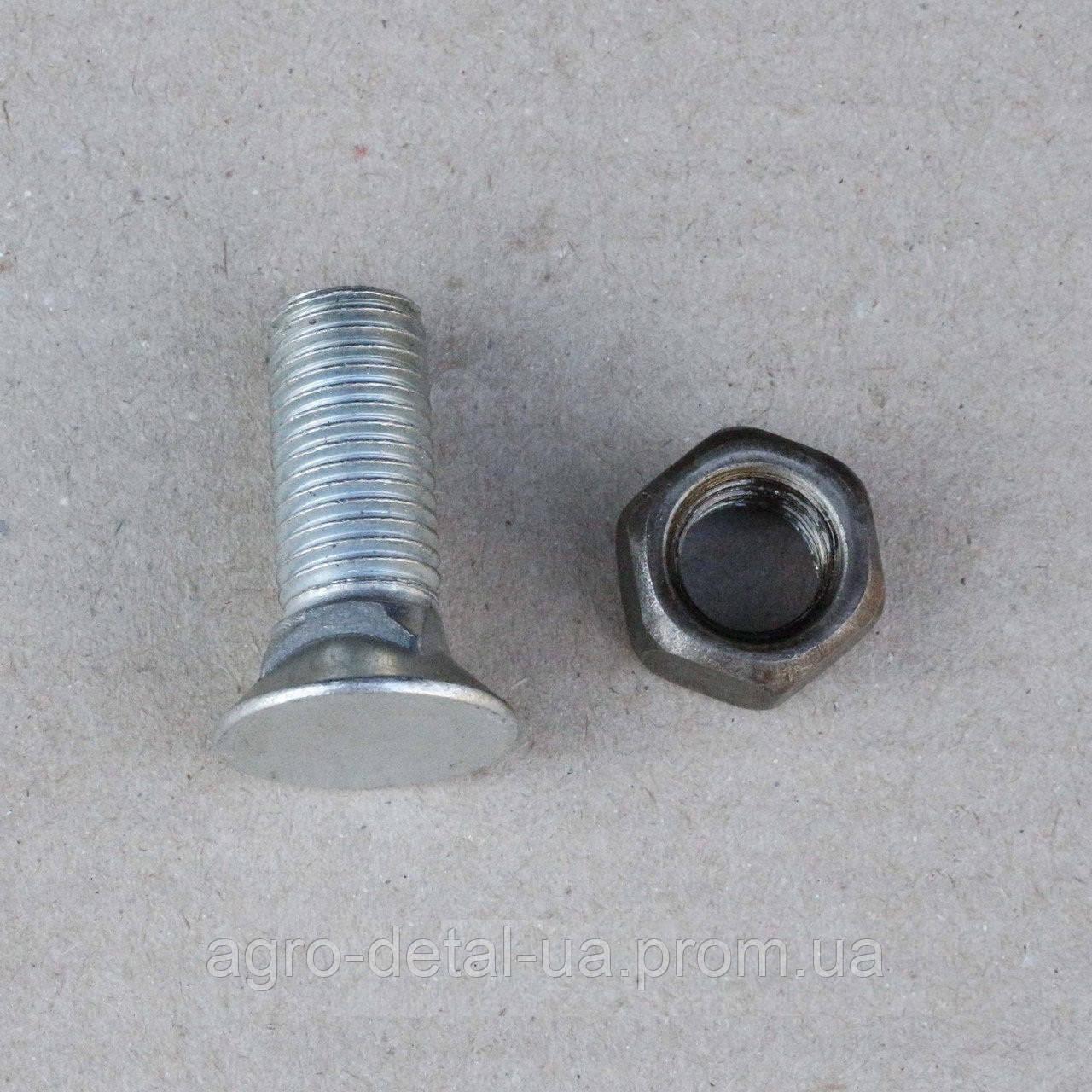 Болт М16х45 крепления переднего ножа ДЗ-425.01.02.03 отвала с квадратной подголовкой трактора ДТ-75,Т-150,Т151
