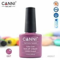 Гель-лак CANNI № 087 (насыщенный розово-коричневый), фото 1