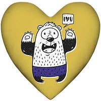 """Подушка сердце """"Борсук"""""""