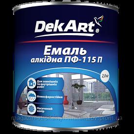 Краска эмаль алкидная белая глянцевая ПФ-115П 2,8 кг DekArt