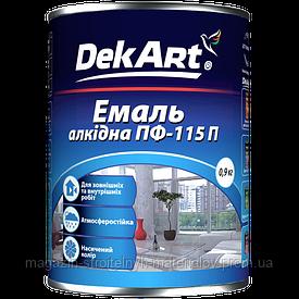 Краска эмаль алкидная вишневая ПФ-115П 0,9 кг DekArt
