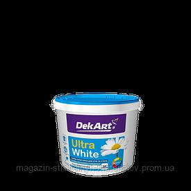 Краска интерьерная водоэмульсионная белая матовая Ultra Wite1,2 кг 1 л DekArt