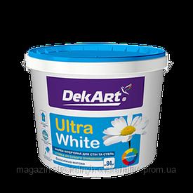 Краска интерьерная водоэмульсионная белая матовая Ultra Wite 6,3 кг 5 л DekArt