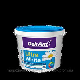 Краска интерьерная водоэмульсионная белая матовая Ultra Wite 4 кг 3 л DekArt