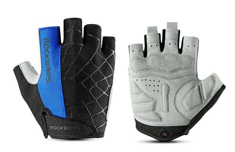 Перчатки RockBros Spyder, черно-синие, M