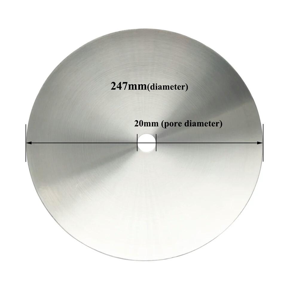 Акция Блюдце для кальяна нержавейка большое диаметр 24 см