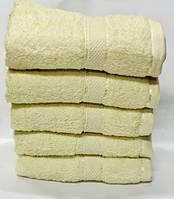Красивый набор лицевых  полотенец   желтого  цвета  Размер:1,0 x 0,5