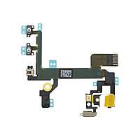 Шлейф для iPhone 5S с кнопками включения и громкости, копия высокого качества