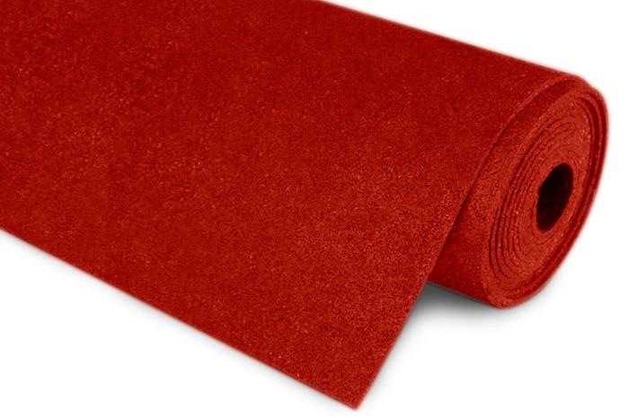 Резиновый коврик 1500х700х15 ярко-красный