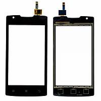 Тачскрин (сенсор) для Lenovo A1000 леново для телефона, цвет черный