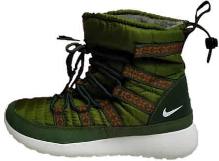 8b8282a9 Женские зимние ботинки Nike Olive (найк, хаки) на меху: продажа ...
