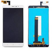 Дисплей (экран) для Xiaomi Redmi Note 3, Redmi Note 3 Pro ксиоми + тачскрин, цвет белый, 147x73 mm