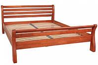 Кровать двуспальная деревянная Ретро 160х200, цвет светлый орех