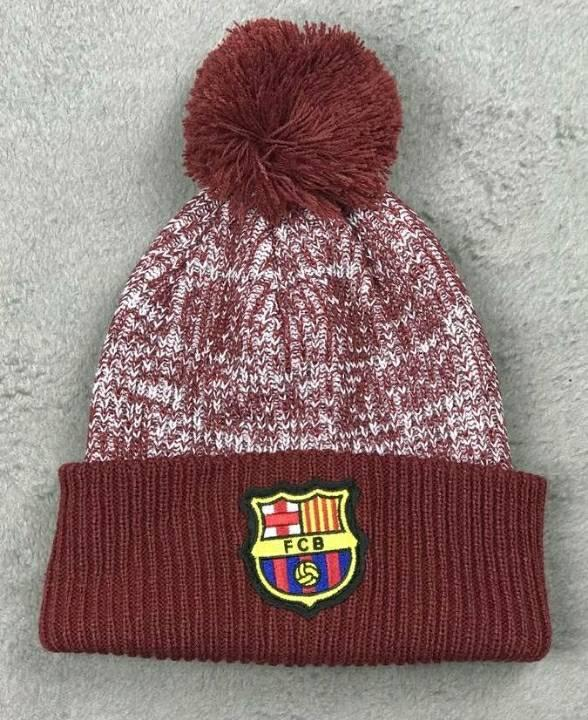 Зимняя шапка Барселона вишневая