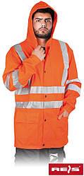 Куртка водостойкая сигнальная рабочая REIS Польша KPDPUFLUO P