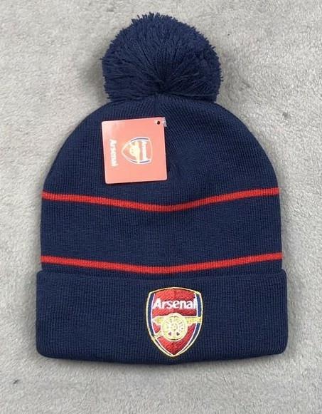 Зимняя шапка Арсенал темно-синяя