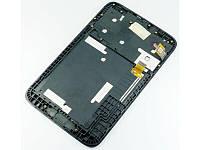 Дисплей Lenovo A1000 IdeaTab модуль в сборе с тачскрином, серый, с рамкой