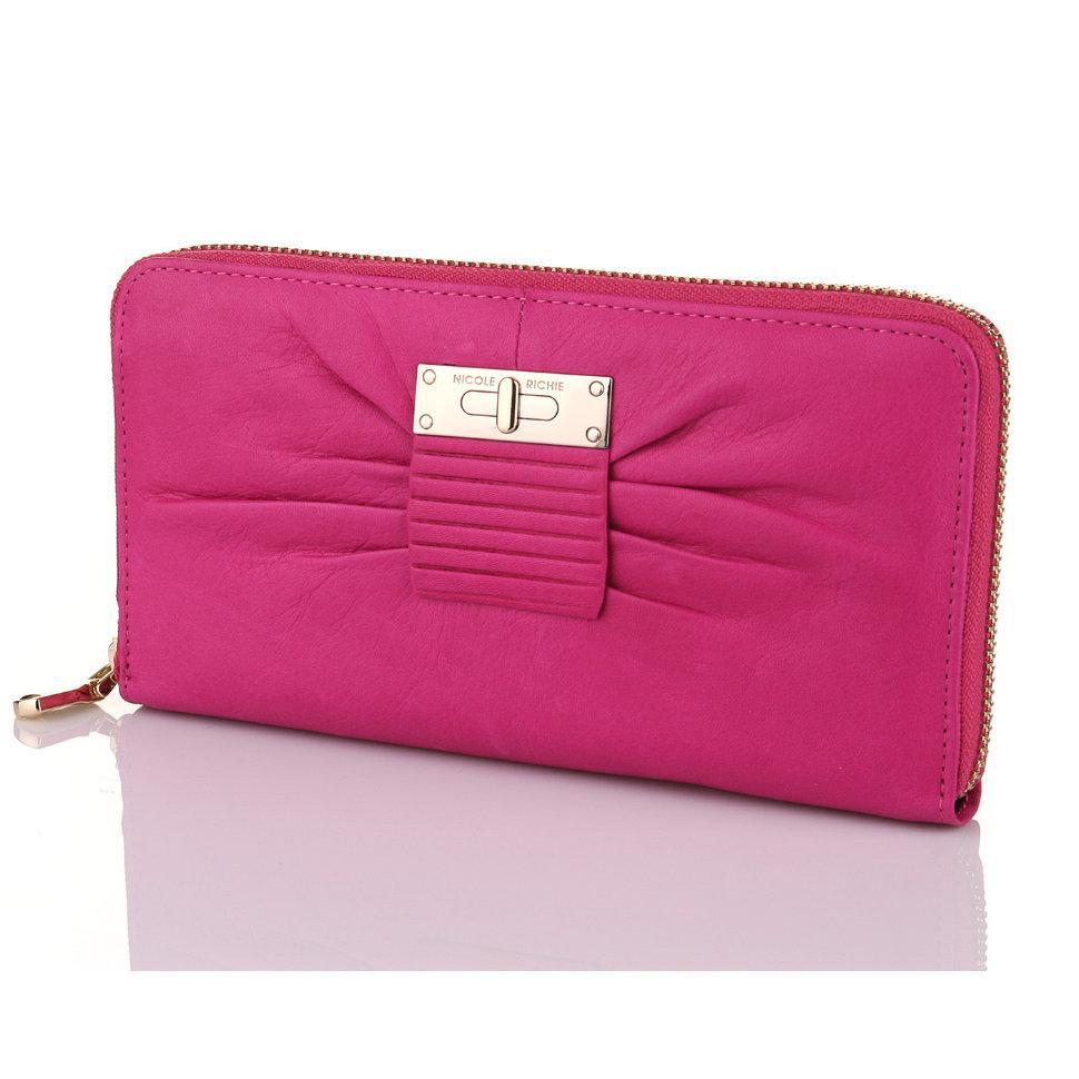 Шкіряний гаманець на блискавці Nicole Richie 1305 Pink