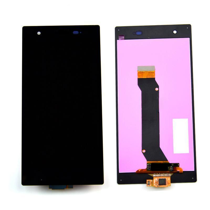 Дисплей Sony Xperia Z1s C6916, черный, с рамкой