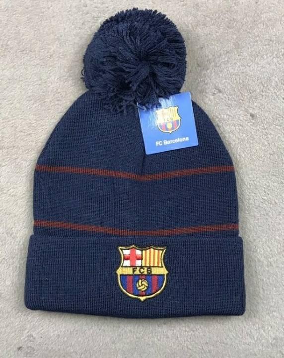 Зимняя шапка Барселона темно-синяя