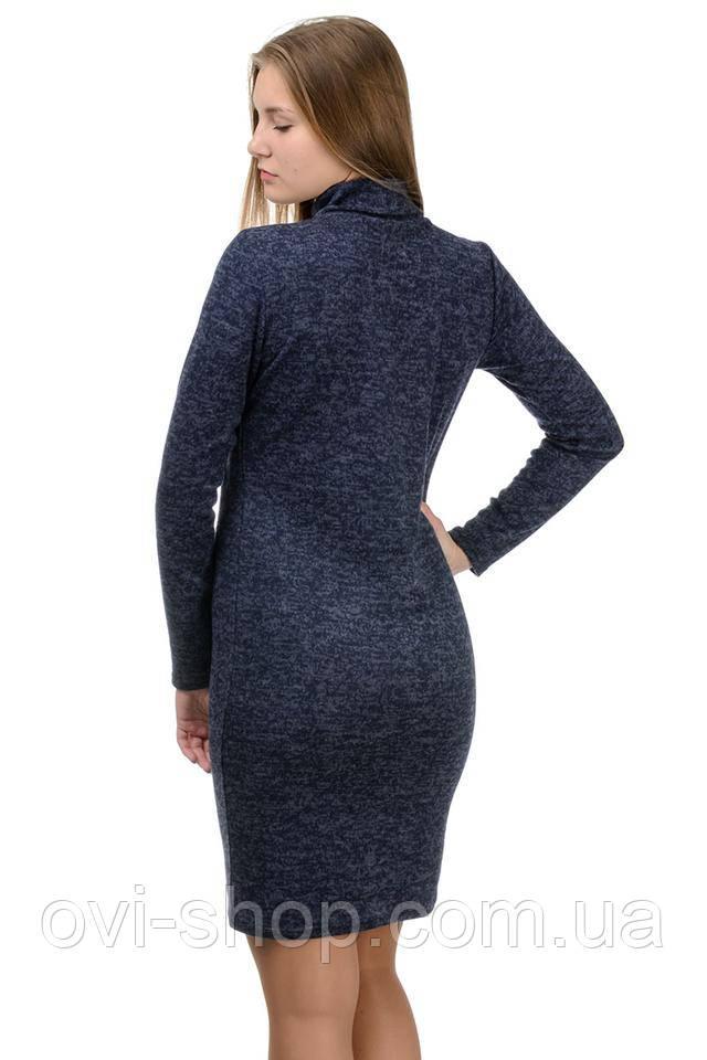 трикотажное приталенное платье