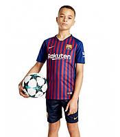 Детская Футбольная форма Барселона домашняя 2018-2019 (Реплика)