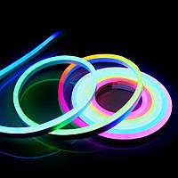 Светодиодный гибкий неон RGB 5050 10мм AVT 72 led/m 12w ip65 220v