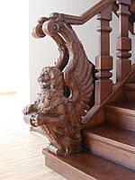 Эксклюзивные лестницы на заказ, Деревянные лестницы, Резные лестницы.