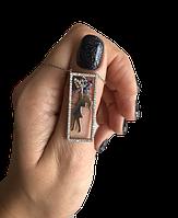 Прямоугольный кулон Beauty Jewels из серебра с куб. цирконами Swarovski с девочкой бабочкой, фото 1