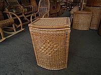 Ящик дутый для белья плетеный из лозы