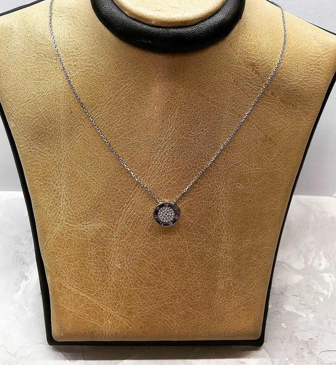 """Кулон из серебра в стиле Pandora """"круг"""" покрыт родием"""