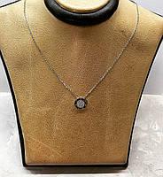 """Кулон из серебра в стиле Pandora """"круг"""" покрыт родием, фото 1"""